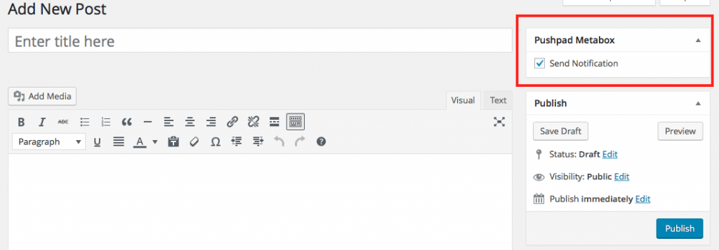 Send push notification from WordPress