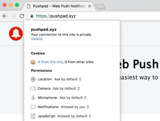 Chrome Website Permissions
